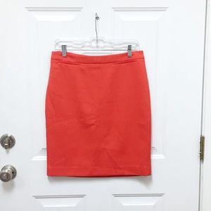 Red Halogen Pencil Skirt
